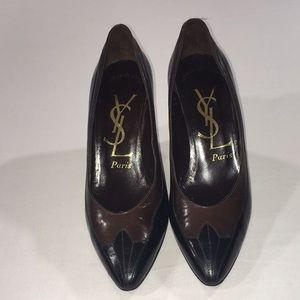 Yvette Saint Laurent Black & Brown Classic Shoes